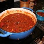 Chili ready to serve