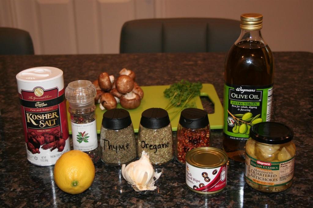 Ingredients for Shrimp Scampi Florentine
