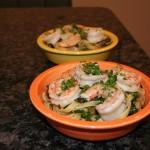 Shrimp Scampi Florentine